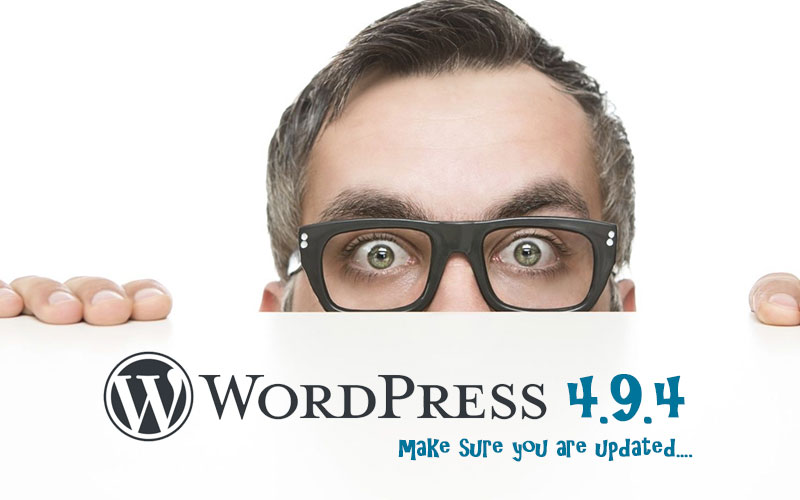 Make sure your WordPress website is updated to the latest version - IMPORTANT!