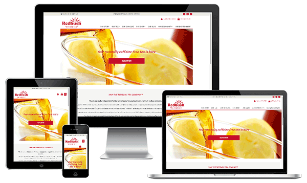 Mobile Friendly Web Design - Redbush Tea Company
