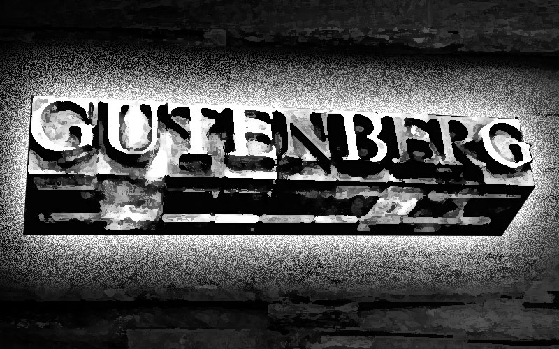 It's about time I mentioned 'Gutenberg'